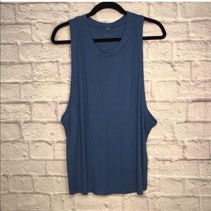 Alo Yoga Heat Wave Tank Blue L